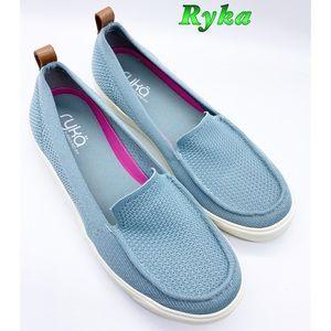 Ryka-Blue Comfort slip on Flats 9